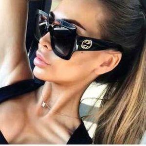 100% Authentic Gucci GG0083S Black Sunglasses